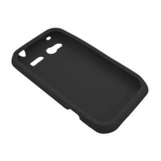 For HTC Radar 4G Omega Soft Silicone Skin Protector Cover Case Black