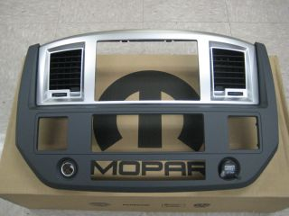 New O E M Mopar 06 08 Dodge Ram Navigation Radio Bezel Dark Slate Gray