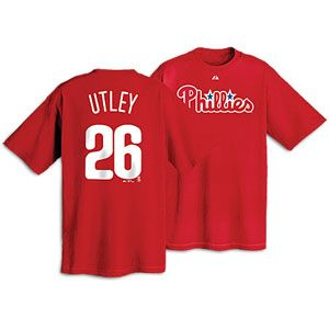 Majestic MLB Name and Number T Shirt   Mens   Chase Utley   Phillies