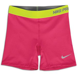 Nike Pro Boy Short   Girls Grade School   Fireberry/Volt/Matte Silver
