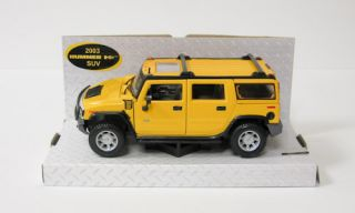2003 Hummer H2 Diecast Model Car SUV Yellow Maisto 1 27 Scale Special