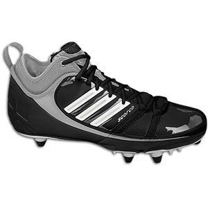 adidas Scorch 9 D Mid   Mens   Football   Shoes   Black/White/Silver