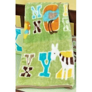 ABC 123 Jungle High Pile Blanket by Beansprout Baby