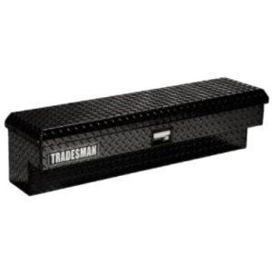 TAL480BK 48 Black Aluminum Side Mount Tool Box Truck Full Size