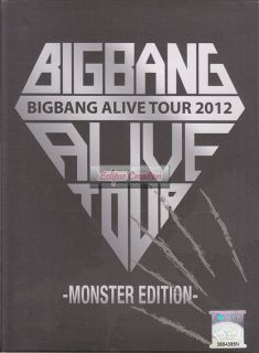 BIGBANG Alive Tour 2012 Monster Edition 2 DVD Brand New