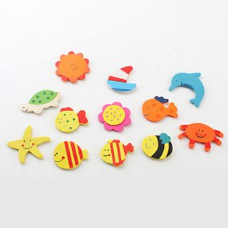 USD $ 1.99   Cartoon Design Fridge Magnets (12 Pack, Random Color