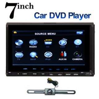 Car DVD CD  Player Touch Screen in Deck Stereo Radio Camera