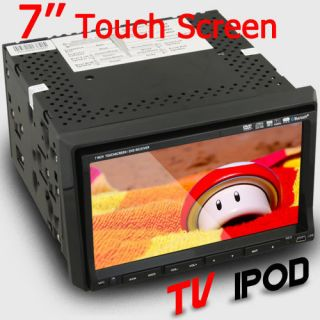 AUTO IR Mic TV 7 In Dash 2 Din Car Stereo DVD Player IPOD SWC RADIO SD