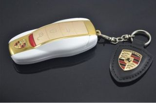 Luxury Sport Car Key Shape Smallest Mobile 2 Sim Cell Phone + Keychain