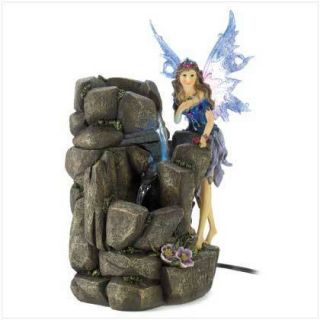 Indoor Outdoor Lighted Fairy Water Fountain Fantasy