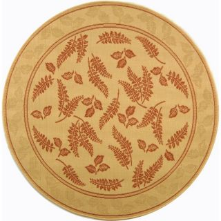 Indoor Outdoor Natural Terracotta Carpet Rug 5 Round
