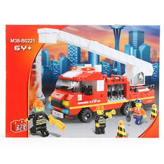 SLUBAN 3D DIY Puzzle Fire Truck with Extending Ladder Building Blocks