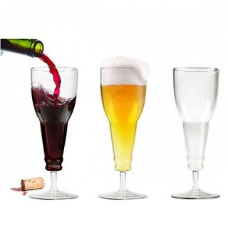 USD $ 11.49   Beer Bottle Shaped Goblet Wine Glass,