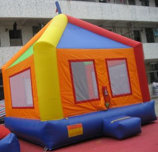 Commercial Inflatable Circus Themed Bounce House Moonwalk Bouncer