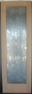 Cherry French Interior Door with Flat Clear Tempered Glass and Square