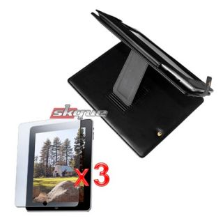 Bag Pouch 3X LCD Screen Protector Film for Apple iPad 1st Gen