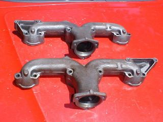 chevy cast iron ram horn exhaust manifolds 2 1 2 corvette 32 ford rat