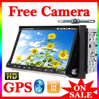 GPS Navi 7 In Dash Car Stereo DVD CD VCD AM/FM  Player Ipod BT PIP