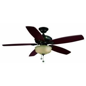 Hampton Bay Sibley 52 inch Oil Rubbed Bronze Ceiling Fan with Light