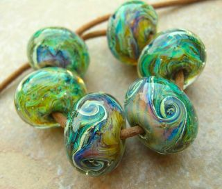 5FISH Handmade Lampwork Italian Murano Glass Boro Set Beads Enchanted
