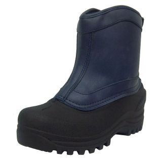 Itasca Ontario Womens Navy Blue Pull on Insulated Winter Snow Boot