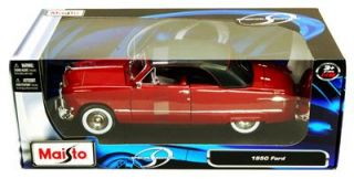 1950 Ford Convertible Soft Top 1 18 Scale Diecast Red Maisto