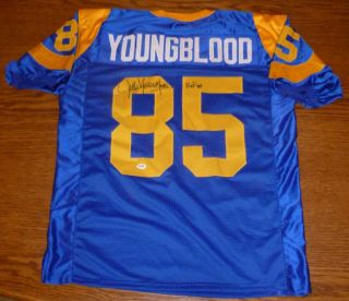 Jack Youngblood Signed AutoD Rams Jersey PSA DNA COA