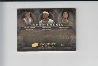 Michael Jordan Lebron James Magic Johnson Triple Auto 2 5 RARE