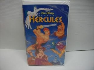 Walt Disney Hercules Kids Cartoon Movie Claim Shell VHS Video Tape