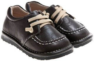 Toddler Childrens Leather Squeaky Shoes Kickers Style in Brown