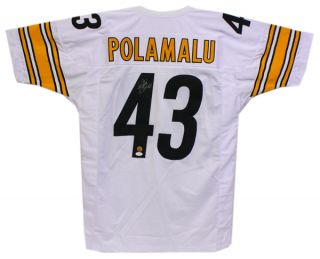 TROY POLAMALU SIGNED AUTOGRAPHED PITTSBURGH STEELERS JERSEY JSA #