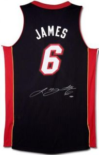 Autographed Lebron James Authentic Jersey Upper Deck Certified