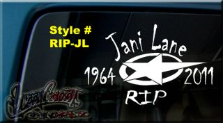 In Memory of Jani Lane Warrant Rip Vinyl Decal Sticker