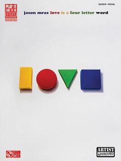 Jason Mraz Love Is A Four Letter Word Guitar Song Book Sheet Music Tab
