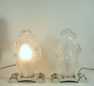 BORIS LACROIX  pair FRENCH ART DECO LAMPSLA+ muller degué era