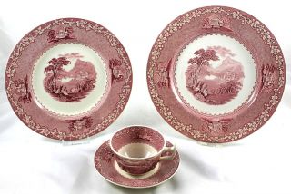 Jenny Lind PLACE SETTING Teacup Saucer Dinner Salad Plate Royal
