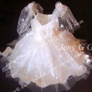 301 Flower Girls Christening Party Pageant Gowns Dresses Ivory 0 5