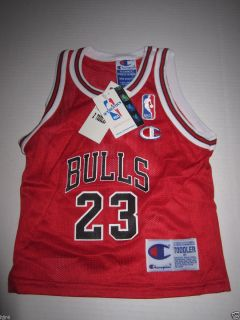 Michael Jordan 23 Chicago Bulls Champion Jersey Toddler 2T New