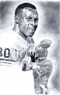 Jerry Rice of San Francisco 49ers Poster Portrait Art