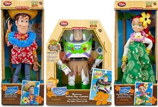 Toy Story 3 Talking Jessie, Woody, Buzz Action figures Dolls Hawaiian