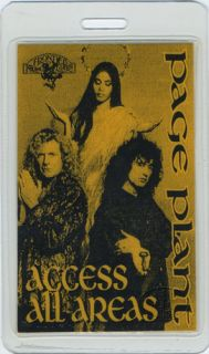 Jimmy Page Robert Plant 1995 Laminated Backstage Pass