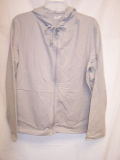Jockey P2P Womens Zip Up Long Sleeve Cotton Track Jacket Large Gray