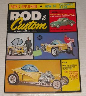 1963 Rod Custom Auto Car Magazine Ed Big Daddy Roth Model Kits