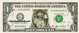 LED Zeppelin John Bonham Celebrity Dollar Bill Uncirculated Mint US