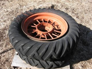 Round Spoke Wheels 28 Allis Chalmers Farmall John Deere