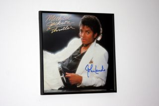 Michael Jackson Thriller promo flat Signed by John Landis Rare Proof
