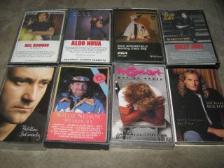 21 Cassette Tape Lot Elton John Michael Jackson Eric Clapton Billy Joel Etc