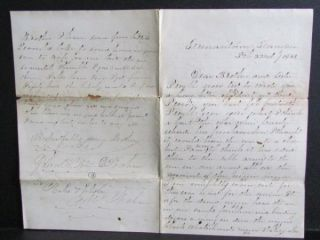 5th Ohio Cavalry Germantown Tennessee Civil War Letter