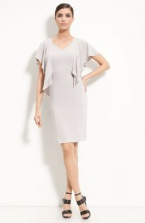 St John Collection V Neck Flutter Sleeve Sheath Dress Sz 12 $895
