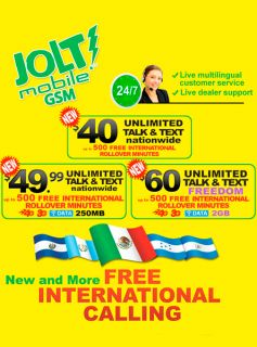 Prepaid Wireless Jolt Mobile GSM Sim Card Starter Kit